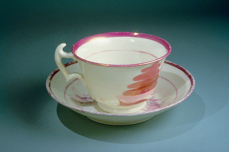 Cup and saucer purchased by Susan B. Anthony with her first paycheck as a gift for her mother, around 1838