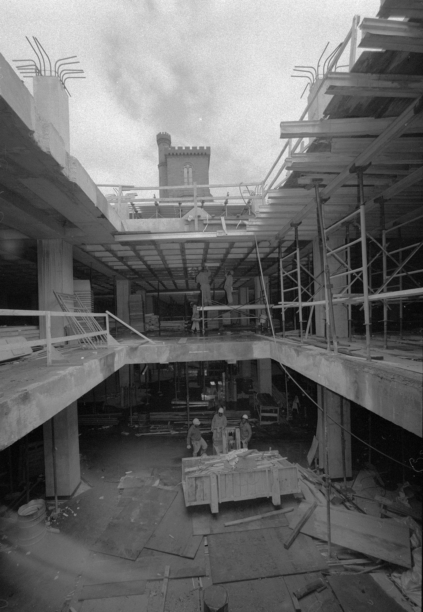 Construction of Staircase in Sackler Gallery
