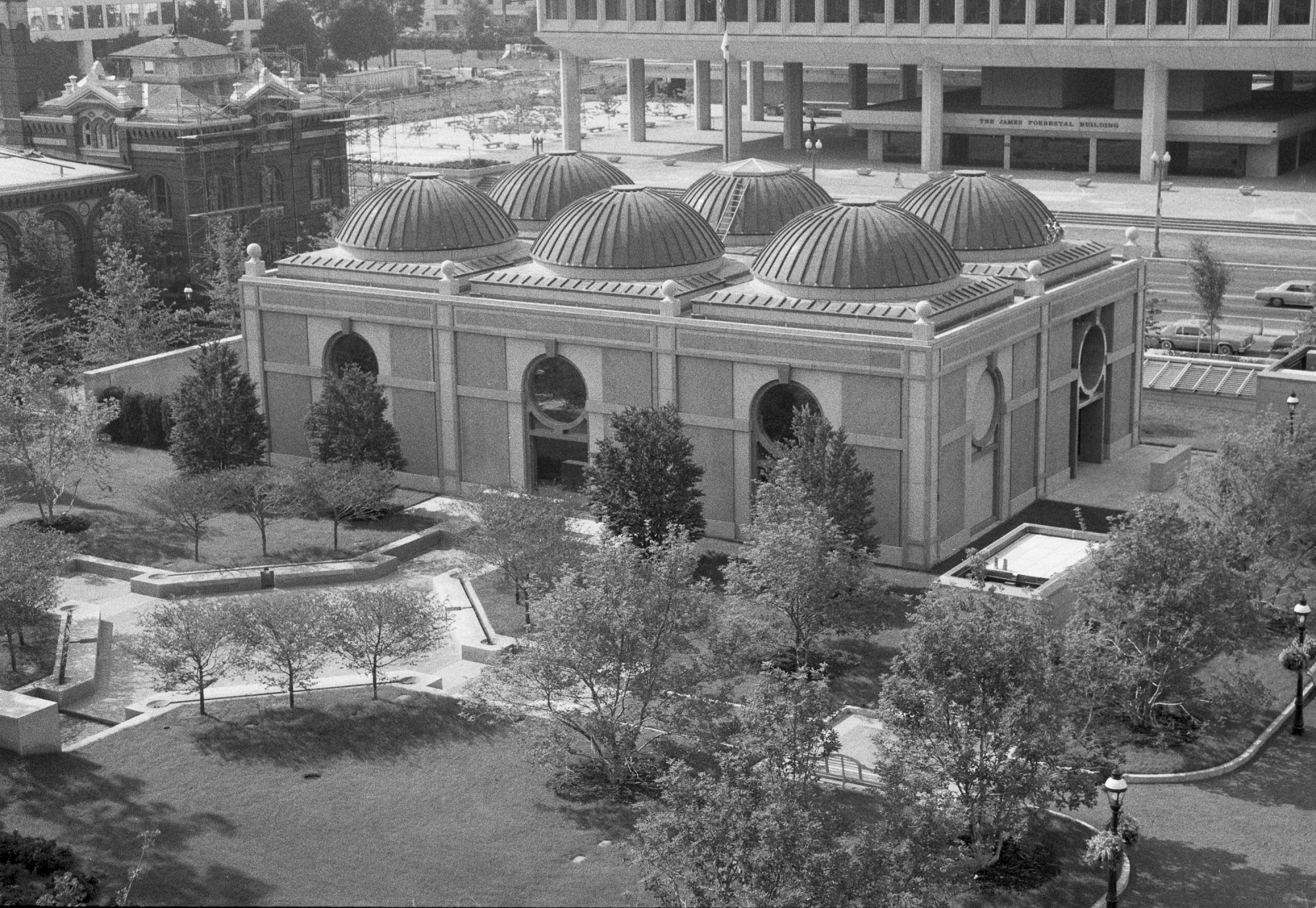 NMAfA Pavilion Viewed from the top of Smithsonian Institution Building