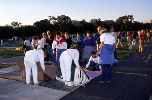 Image of NAMES Project AIDS Memorial Quilt on National Mall