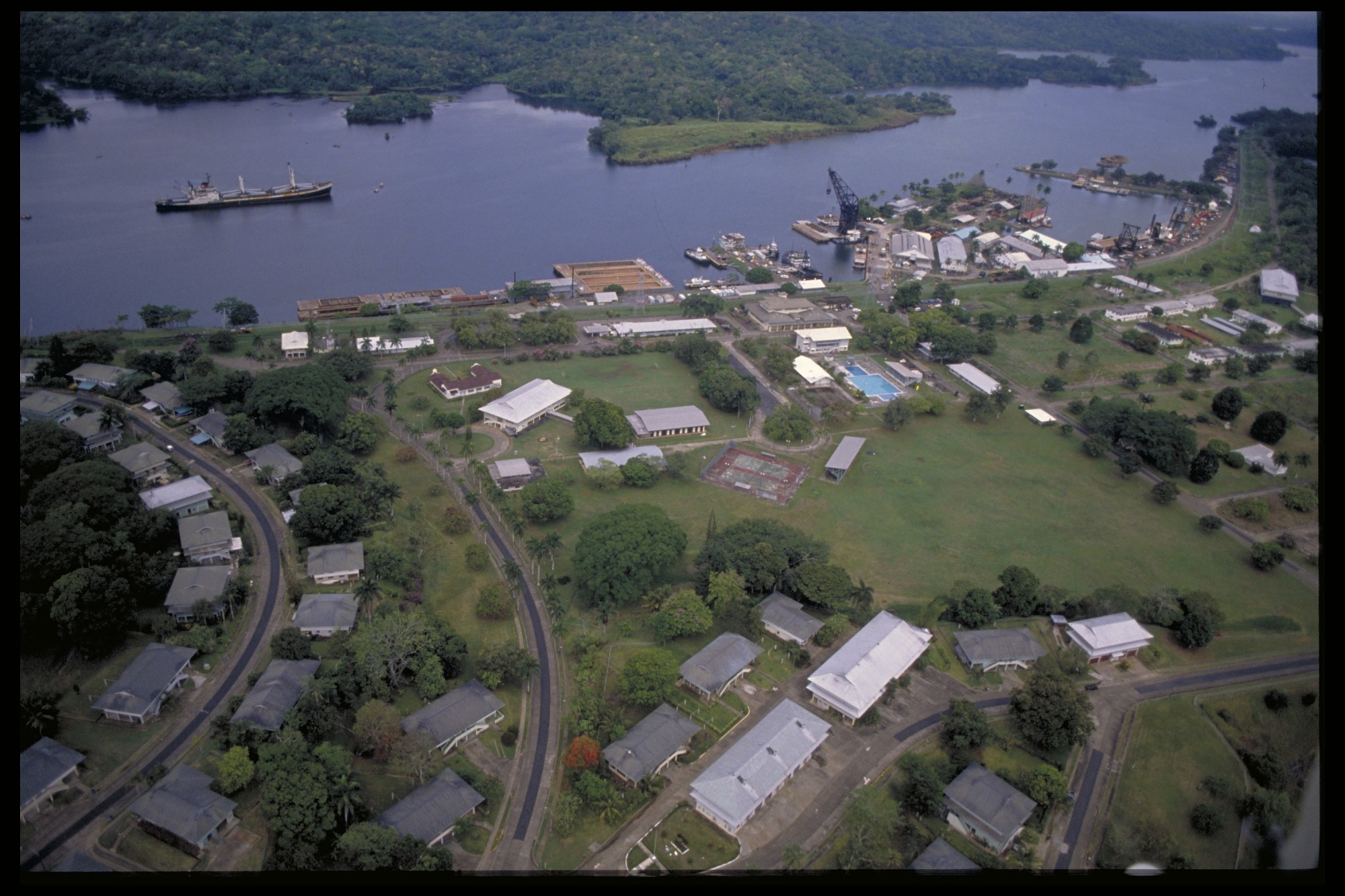 Preview of Aerial View of Gamboa/Panama Canal, Panama, STRI