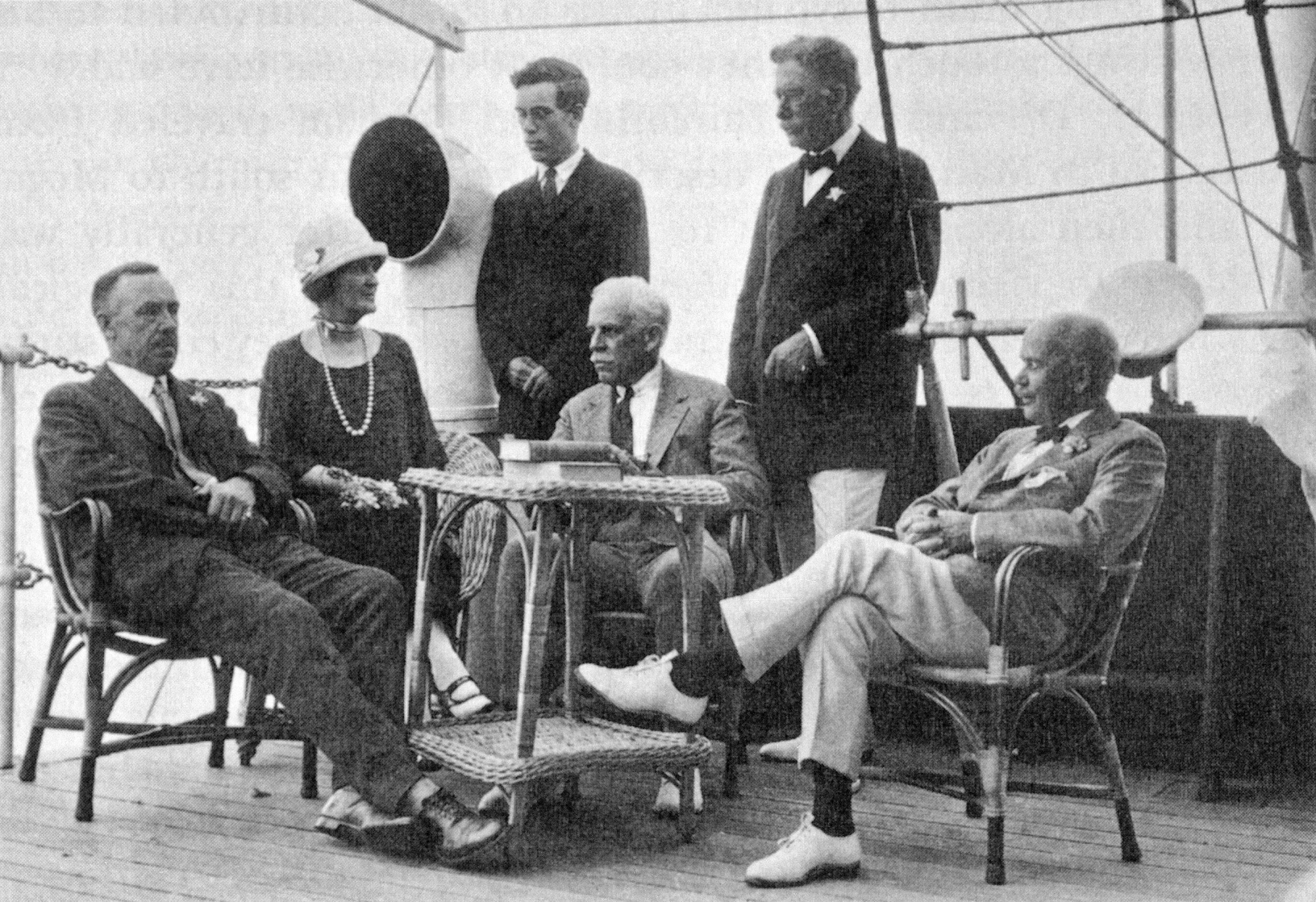 On Allison Armour's Yacht off Casablanca