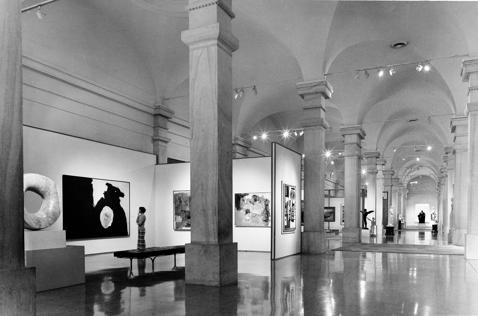 Lincoln Gallery of the NCFA, by Curry, Martin, 1968, Smithsonian Archives - History Div, 92-1776.