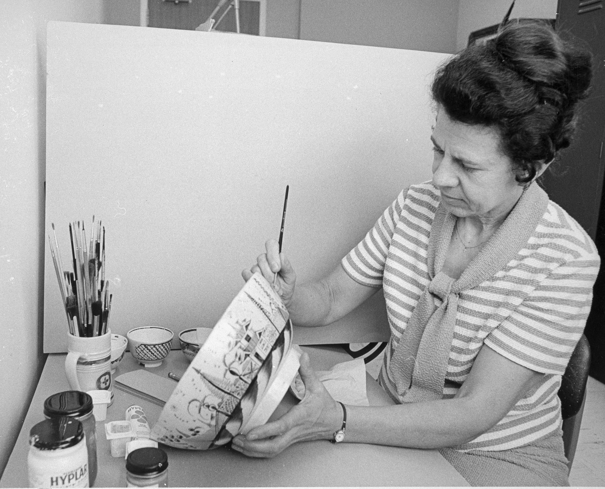 Dorothy Briggs at Work, by Unknown, 1969, Smithsonian Archives - History Div, 94-1524.