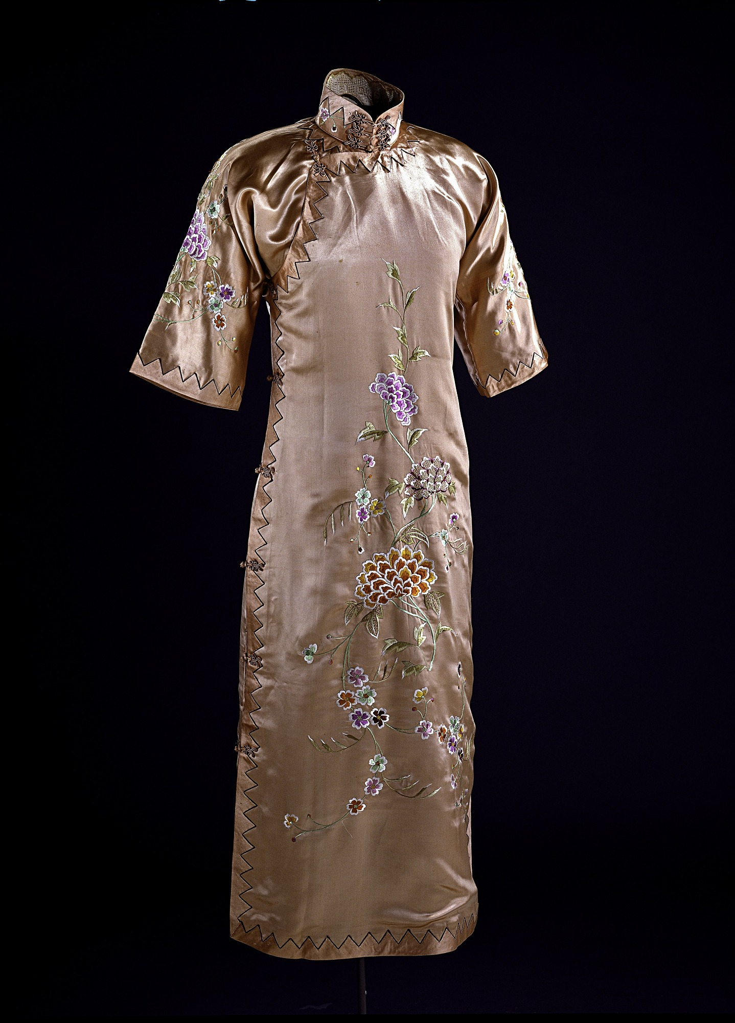 Image of a silk satin dress
