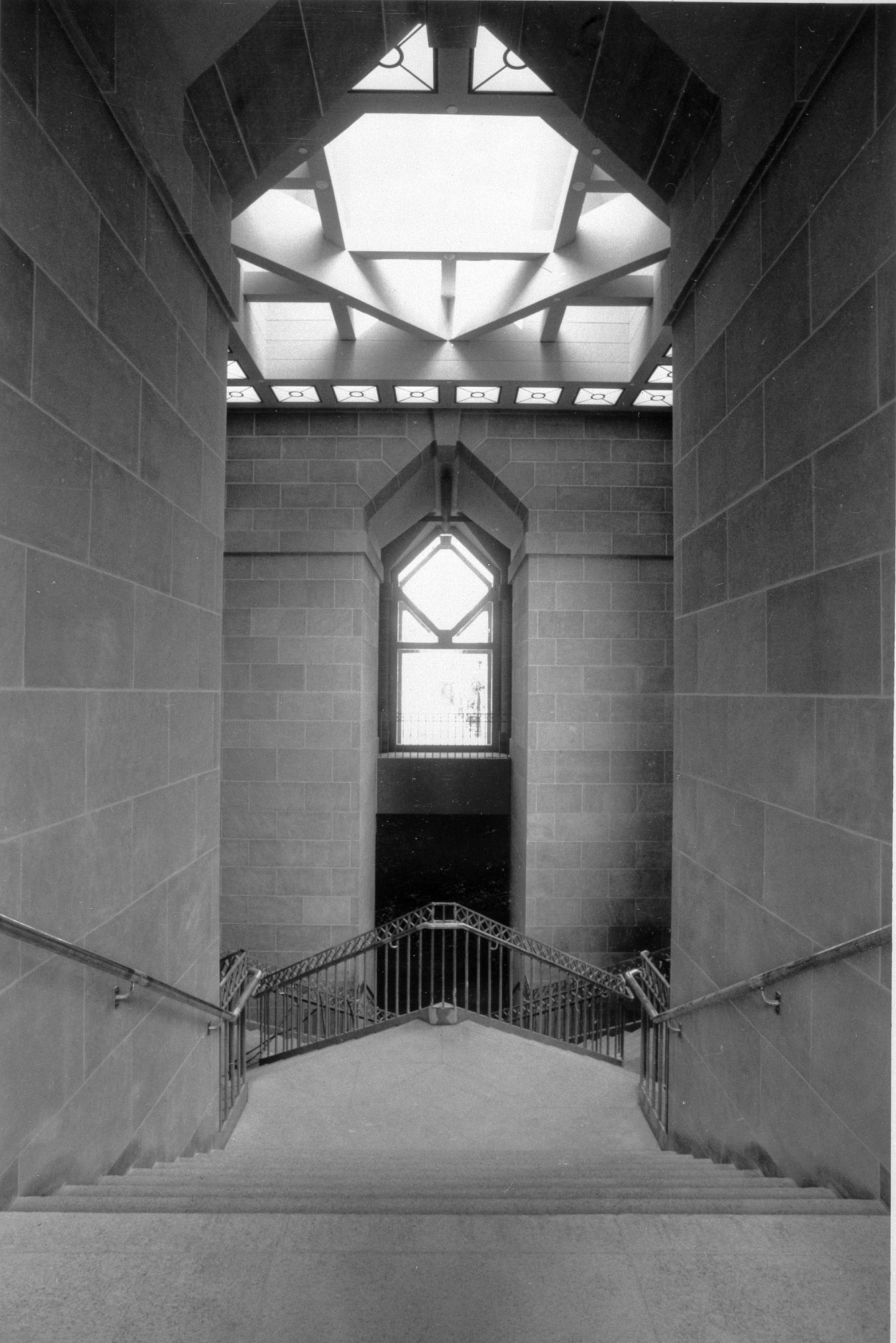 Grand Staircase in AMSG, by Lautman, Robert, 1987, Smithsonian Archives - History Div, 96-1388.
