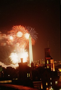 Image of Fireworks for 150th Birthday Party on the Mall