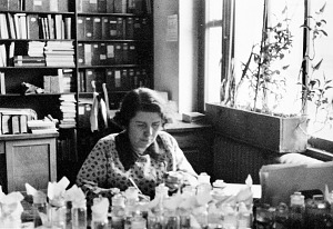 Image of Doris M. Cochran at Desk, Spring 1938