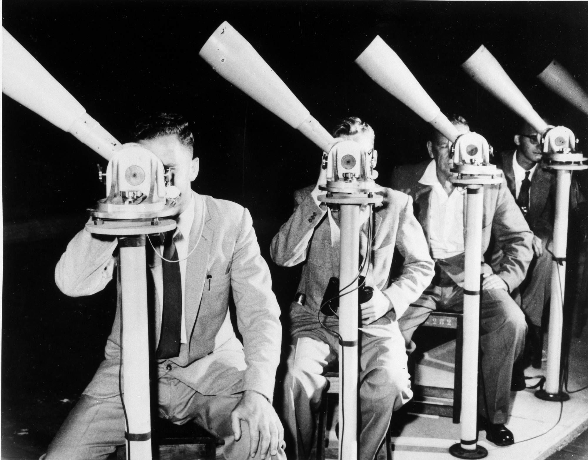Moonwatch Volunteers, 1965, by Unknown, 1965, Smithsonian Archives - History Div, 96-960.