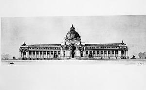 Image of Architectural Drawing for Proposed U.S. National Museum