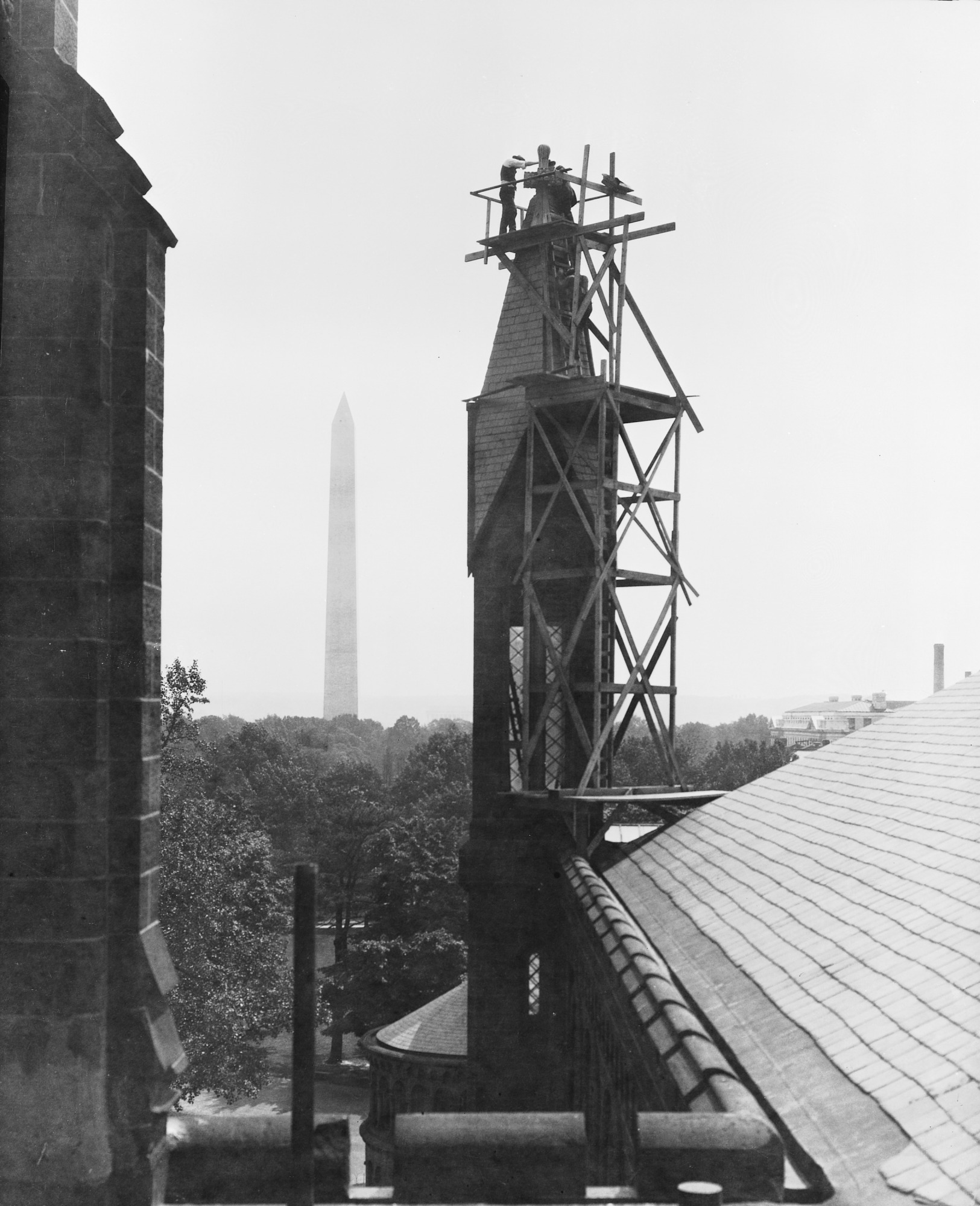 Repairing the Smithsonian Institution Building Tower