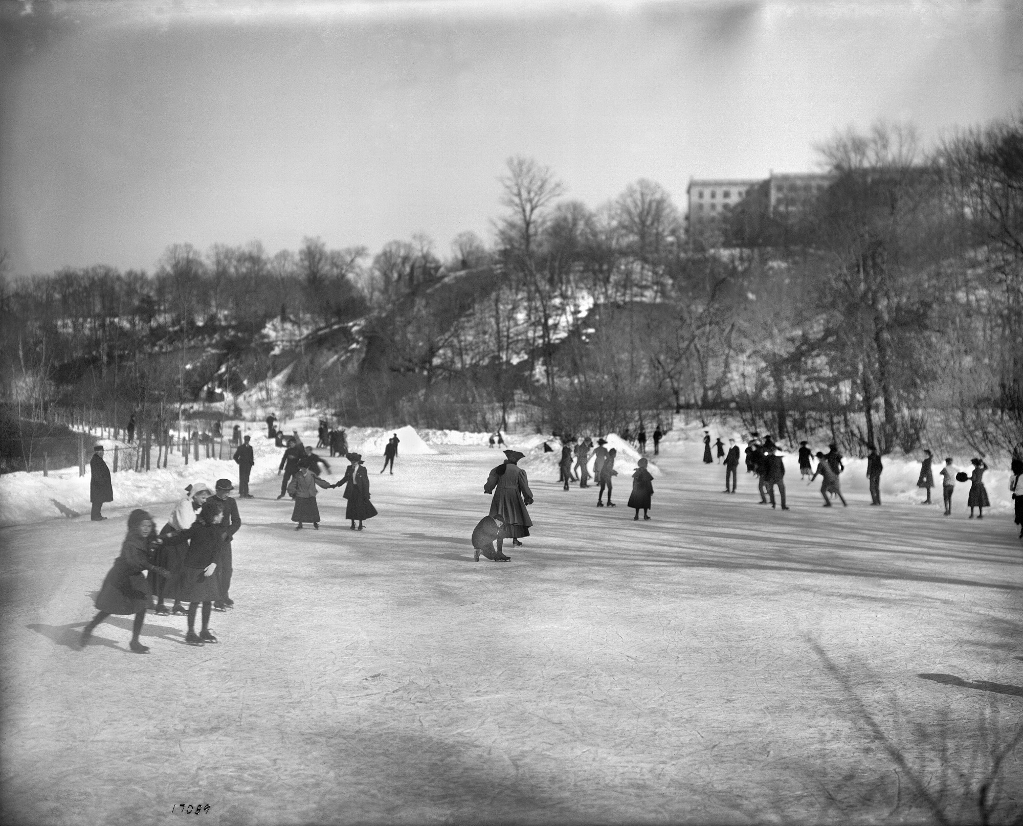 Skaters on Rock Creek, by Unknown, c. 1905, Smithsonian Archives - History Div, 17089 or MAH-17089.