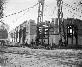Preview of Construction of Exterior Walls of U.S. National Museum Building, 1905