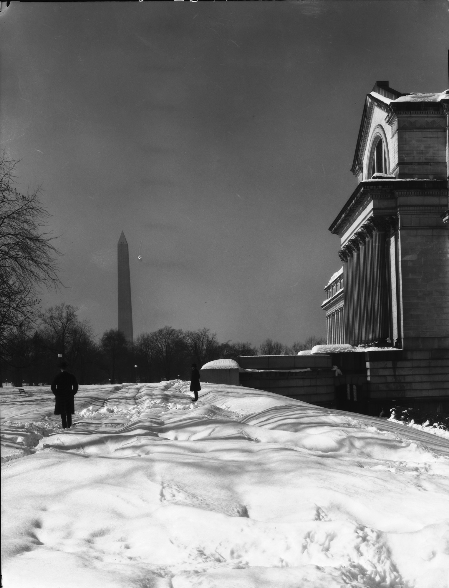 U.S. National Museum and Mall After Snow Storm