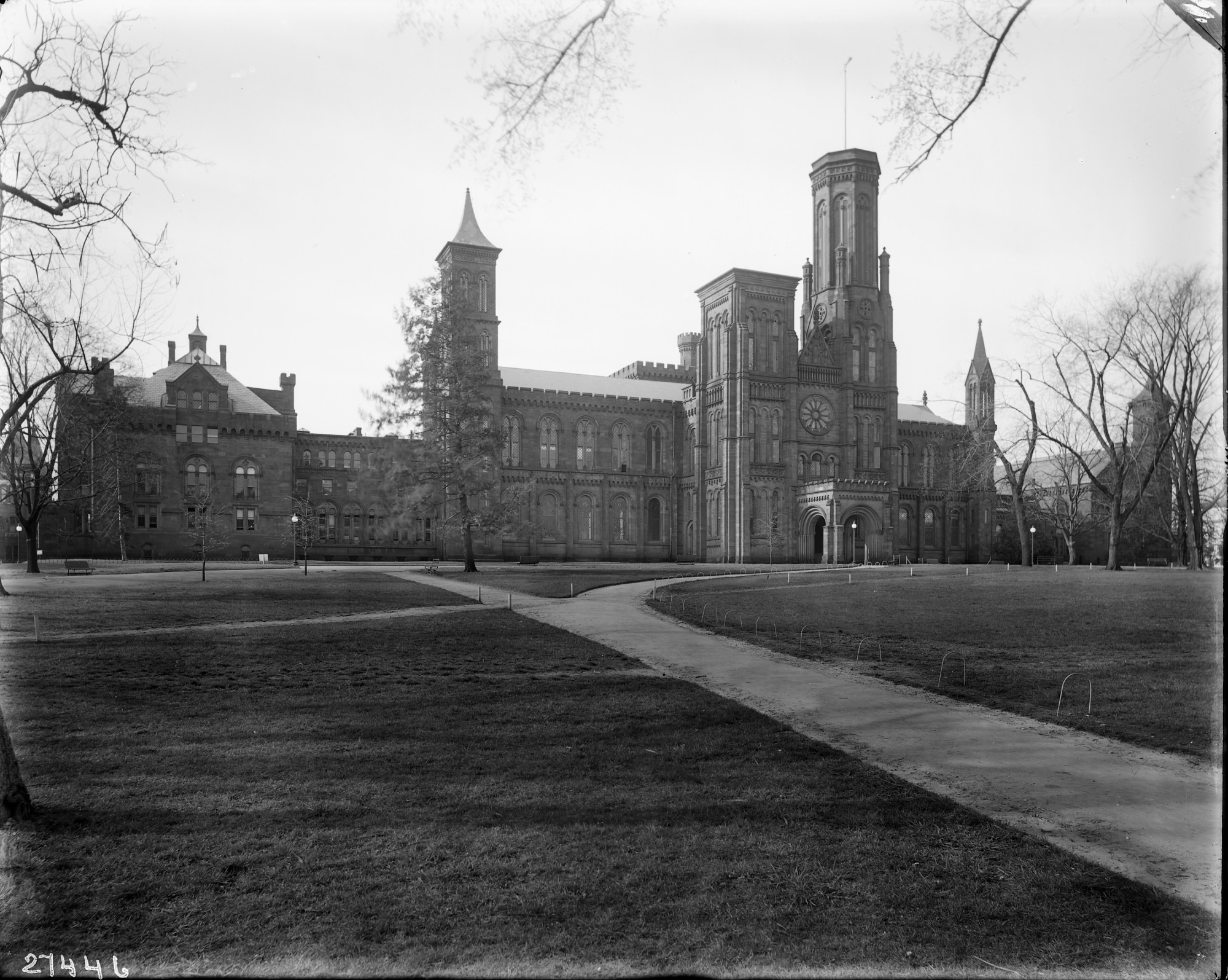 Smithsonian Institution Building or Castle, North Façade, c. 1920s, by Unknown photographer, Phot