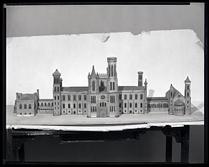 Image of Model of the Smithsonian Institution Building, or Castle