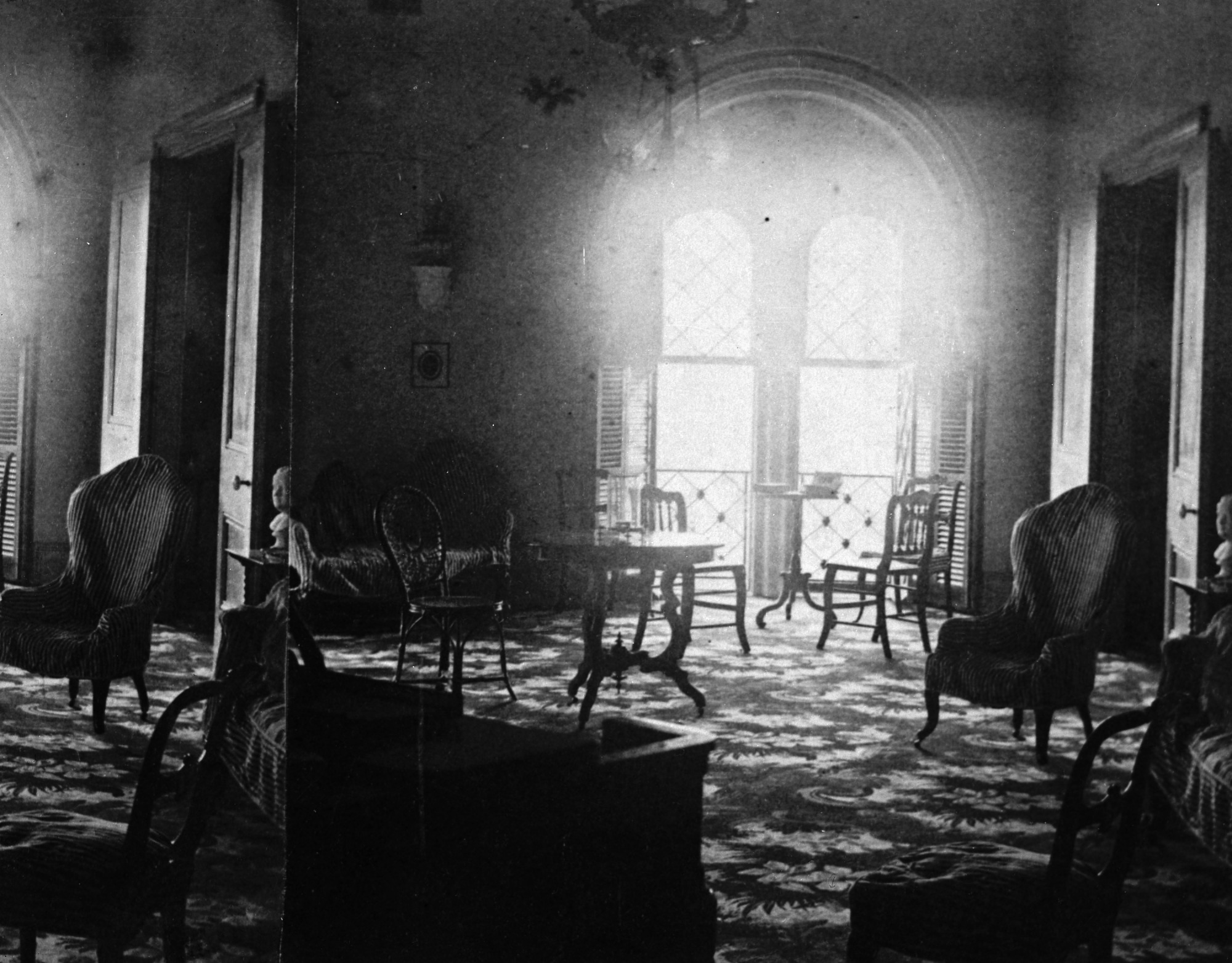 Photograph of Henry Family Apartments in the East Wing of the Smithsonian Castle was taken by Titian Ramsey Peale, 1862. Smithsonian Institution Archives, negative number mah-46638c.