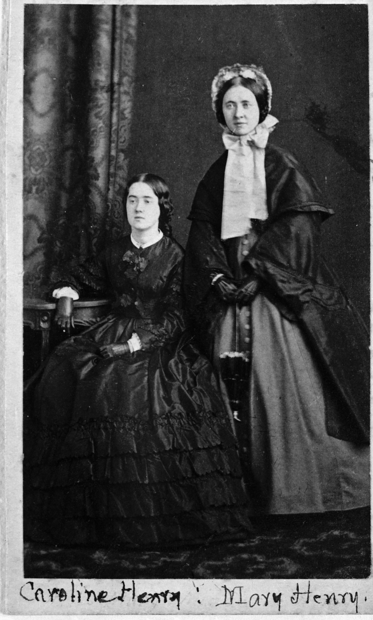 Joseph Henry's Daughters Caroline & Mary, by Unknown, c. 1855, Smithsonian Archives - History Div, 46638-G or MAH-46638G.