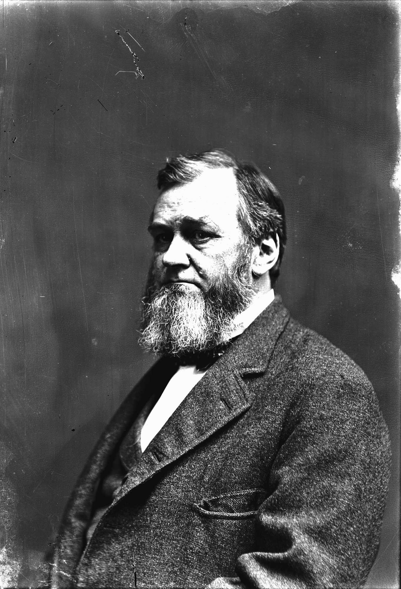 Portrait photograph of Spencer Fullerton Baird, c. 1880. Smithsonian Institution Archives, negative number MAH-786A.