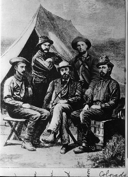 Preview of Drawing of Five Men from Hayden Expedition