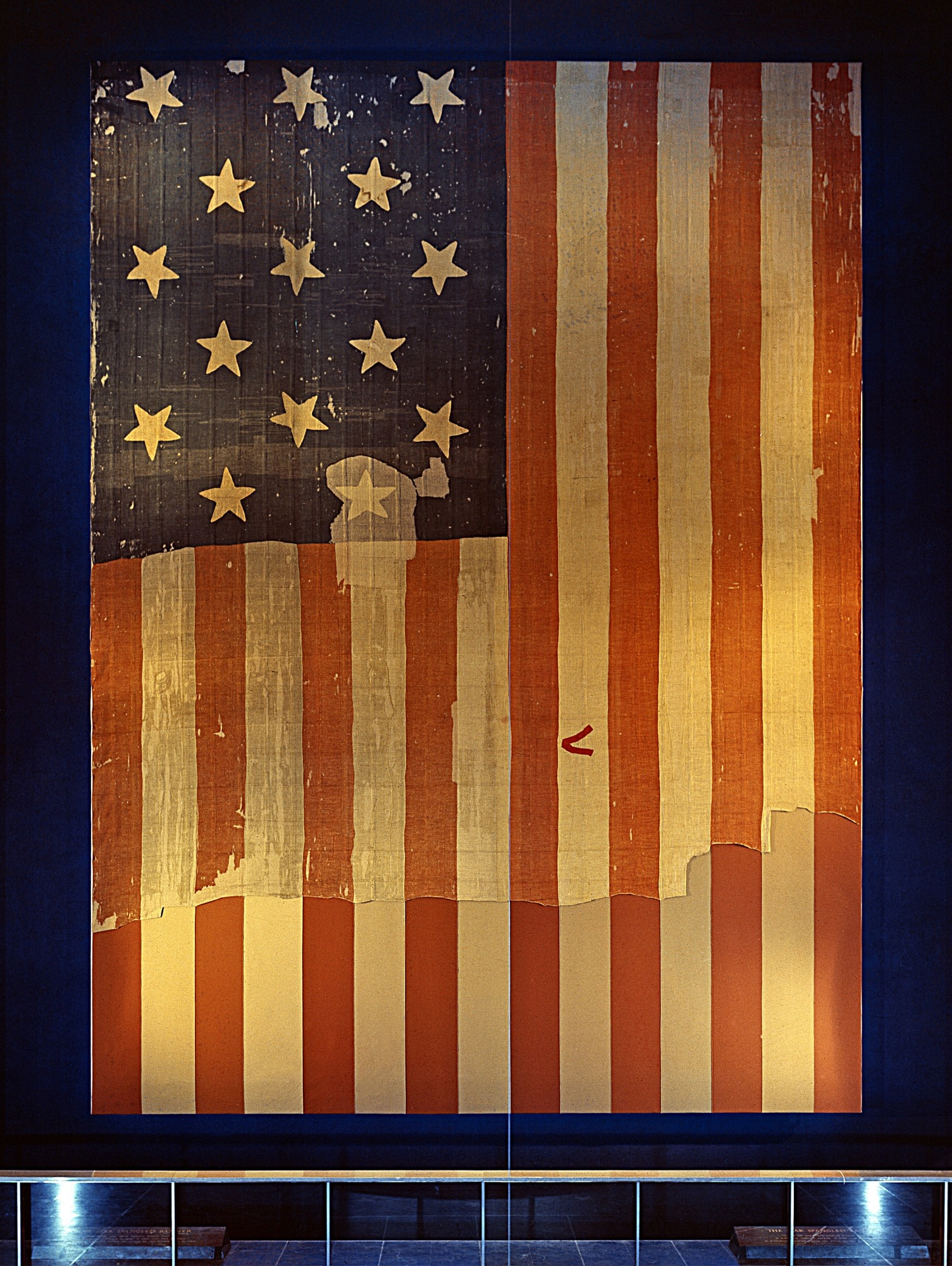 Star-Spangled Banner, NMAH, by Unknown, c. 1964, Smithsonian Archives - History Div, MAH-P6427.