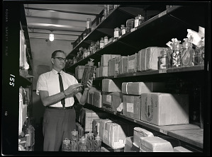 Image of Dr. James A. Peters with Herpetology Collections