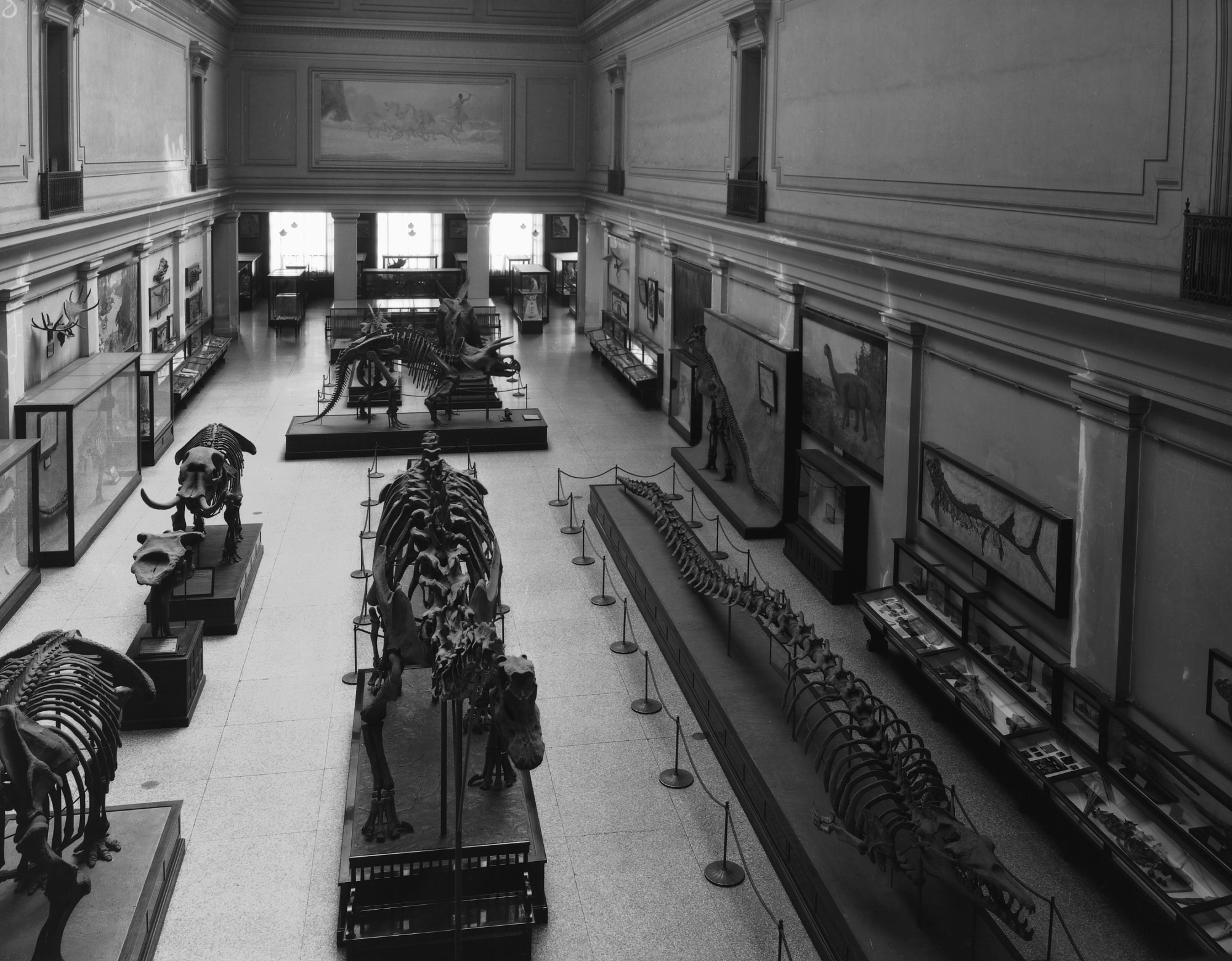 Hall of Extinct Monsters, National Museum of Natural History, 1930s