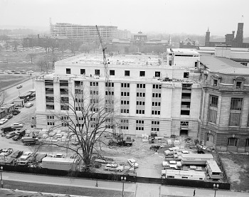 Preview of East Wing of NHB Near Completion, 1962