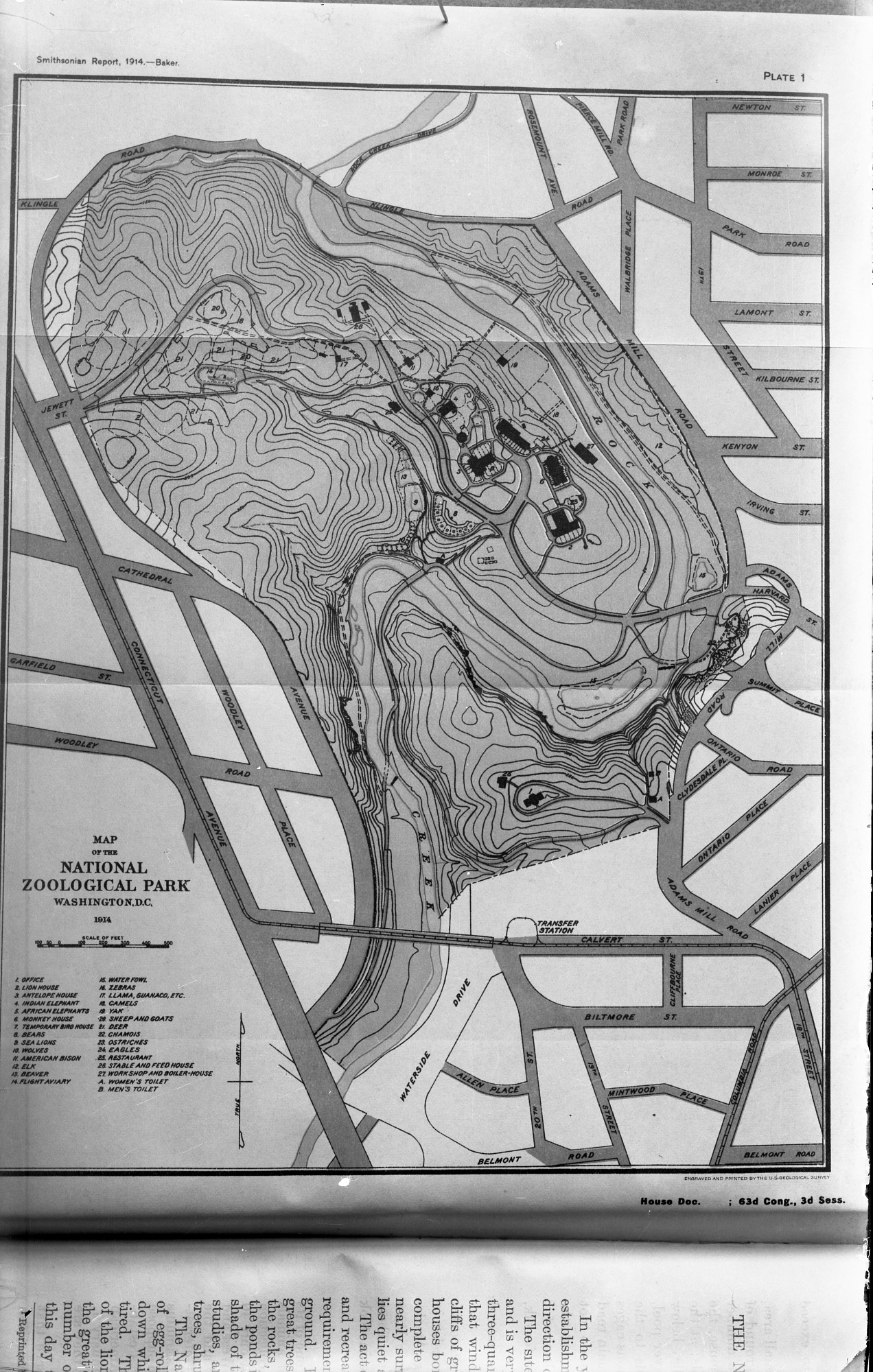 Preview of Map of the National Zoological Park, Washington, D.C. 1914
