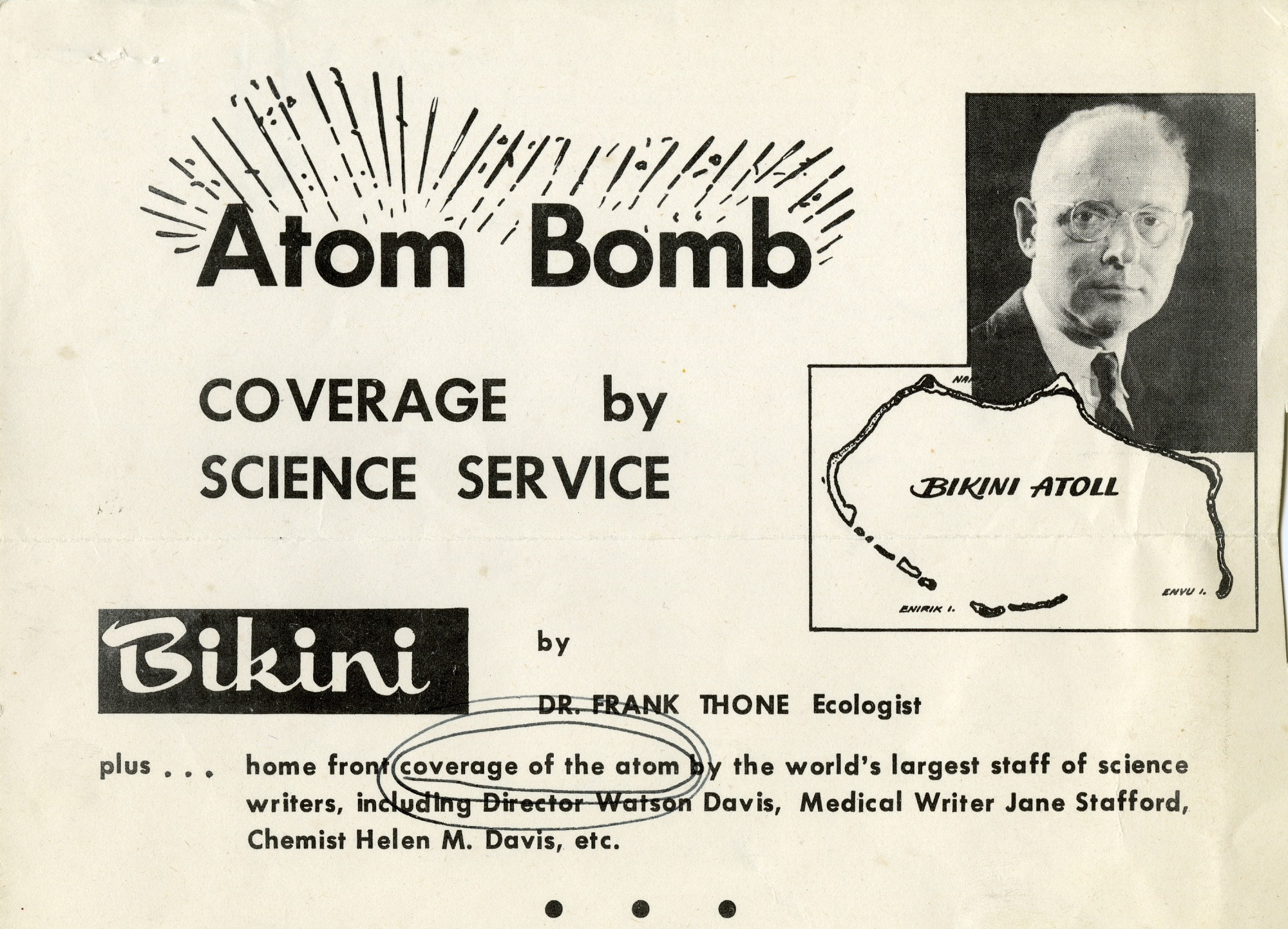 Preview of Atom Bomb Coverage by Science Service