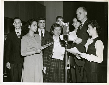 Preview of Frank Thone (1891-1949) interviewing Science Talent Search finalists, 1945