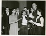 Frank Thone (1891-1949) interviewing Science Talent Search finalists, 1945,  Name: Thone, Frank, Science Service, Science Service,  Date: 1940s from Smithsonian Institution Archives ... See More