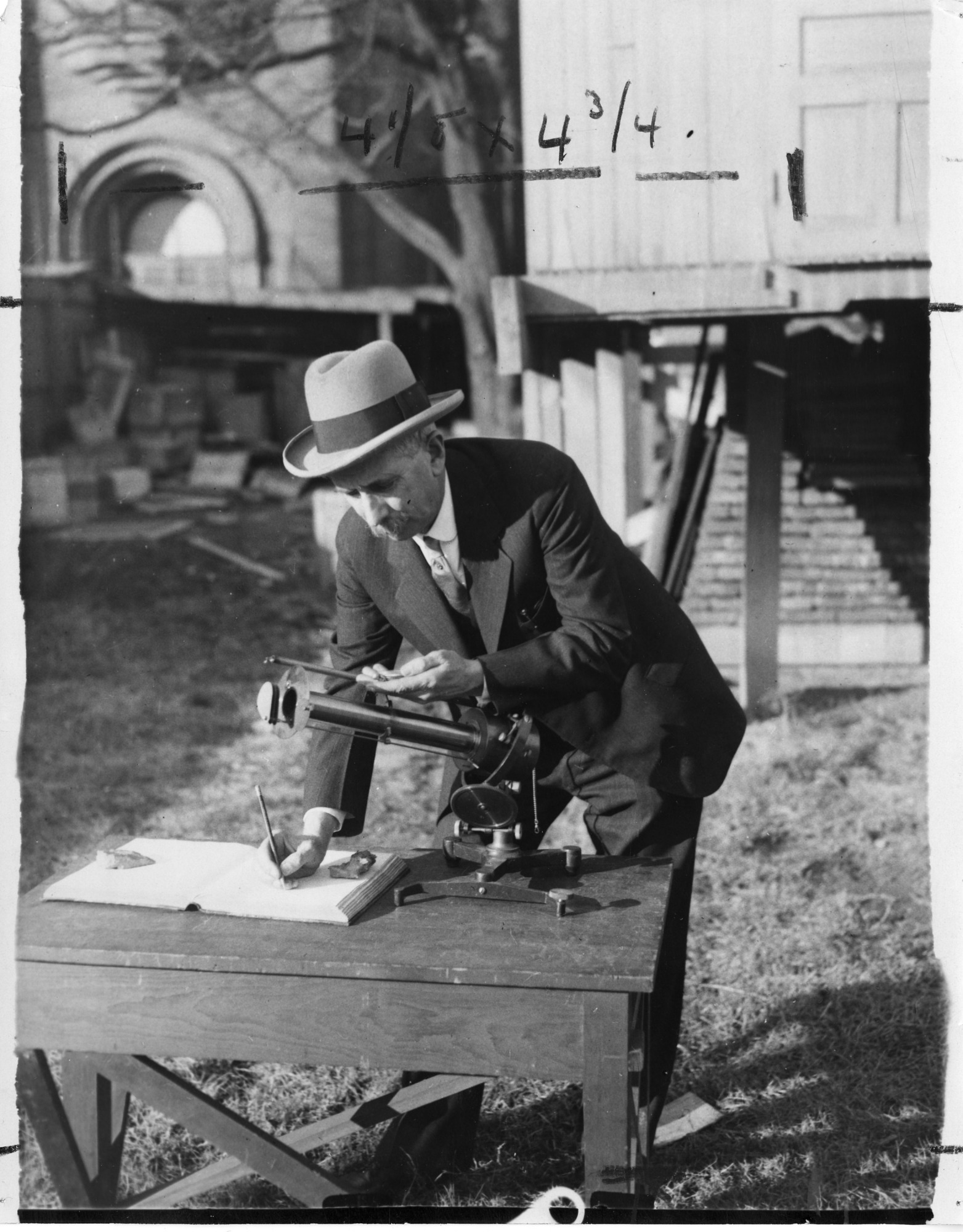 Secretary Charles G. Abbot Reading the Pyrheliometer
