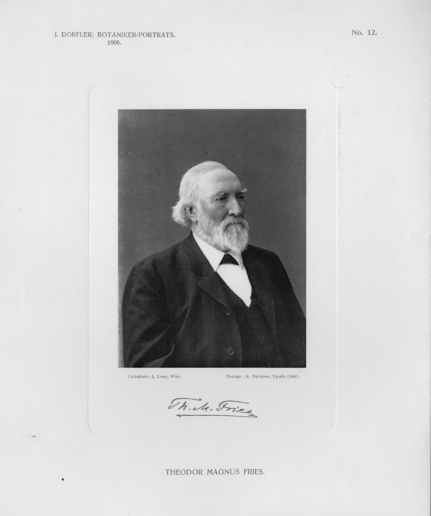Theodor Magnus Fries, 1906, Smithsonian Institution Archives, SIA Acc. 90-105 [SIA2008-1725].