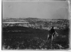 Image of China, Miscellaneous Scenes - Man on Horse, Mountain View