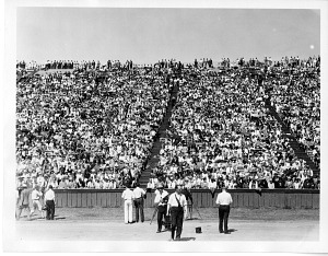 Image of Crowds at Stanford Bowl for Herbert Clark Hoover Acceptance Speech