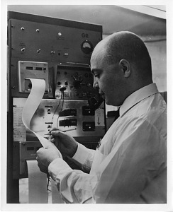 Image of Dr. Glen D. Jensen, with Electronic Instruments