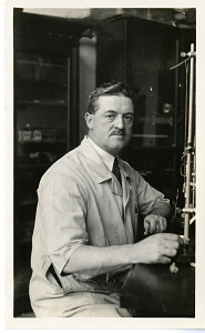 Image of D. R. Joseph in laboratory
