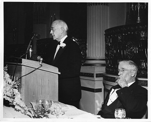 Image of Edward C. Kendall (left) and Vannevar Bush (right)