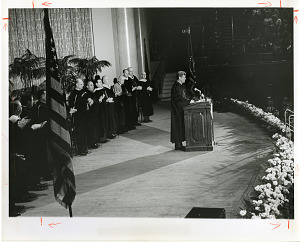 Image of John F. Kennedy speaking at the National Academy of Sciences Centennial Convocation