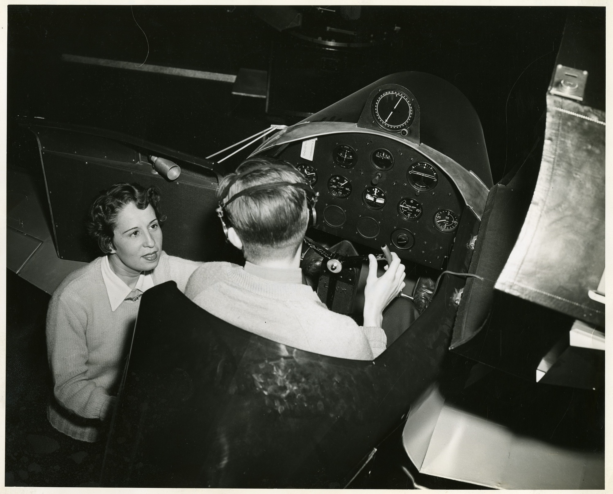 left to right: Anesia Pinheiro Machado (1902-1999) and Pilot Dean E. Robinson, 1948, Smithsonian Institution Archives, SIA Acc. 90-105 [SIA2008-5752].