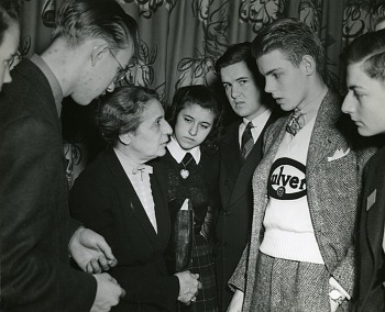 Preview of Lise Meitner (1878-1968) with Science Talent Search finalists, 1946