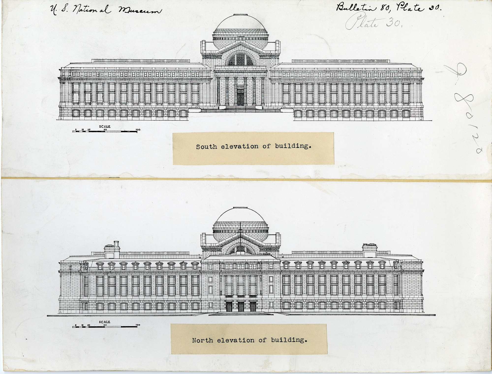 Preview of United States National Museum, North Elevation