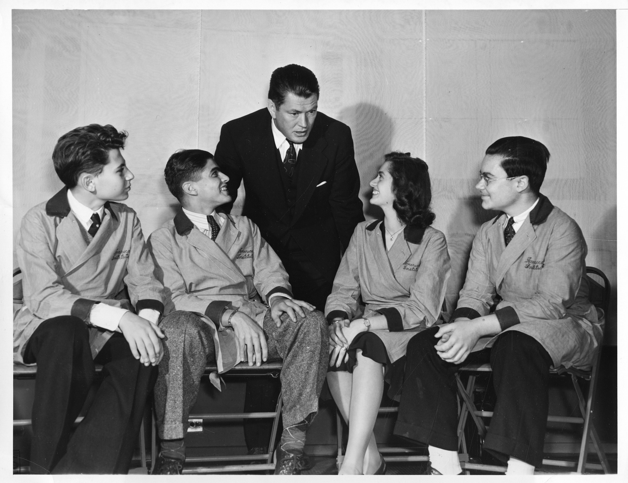 Gene Tunney (1897-1978) and science fair participants, September 24, 1940