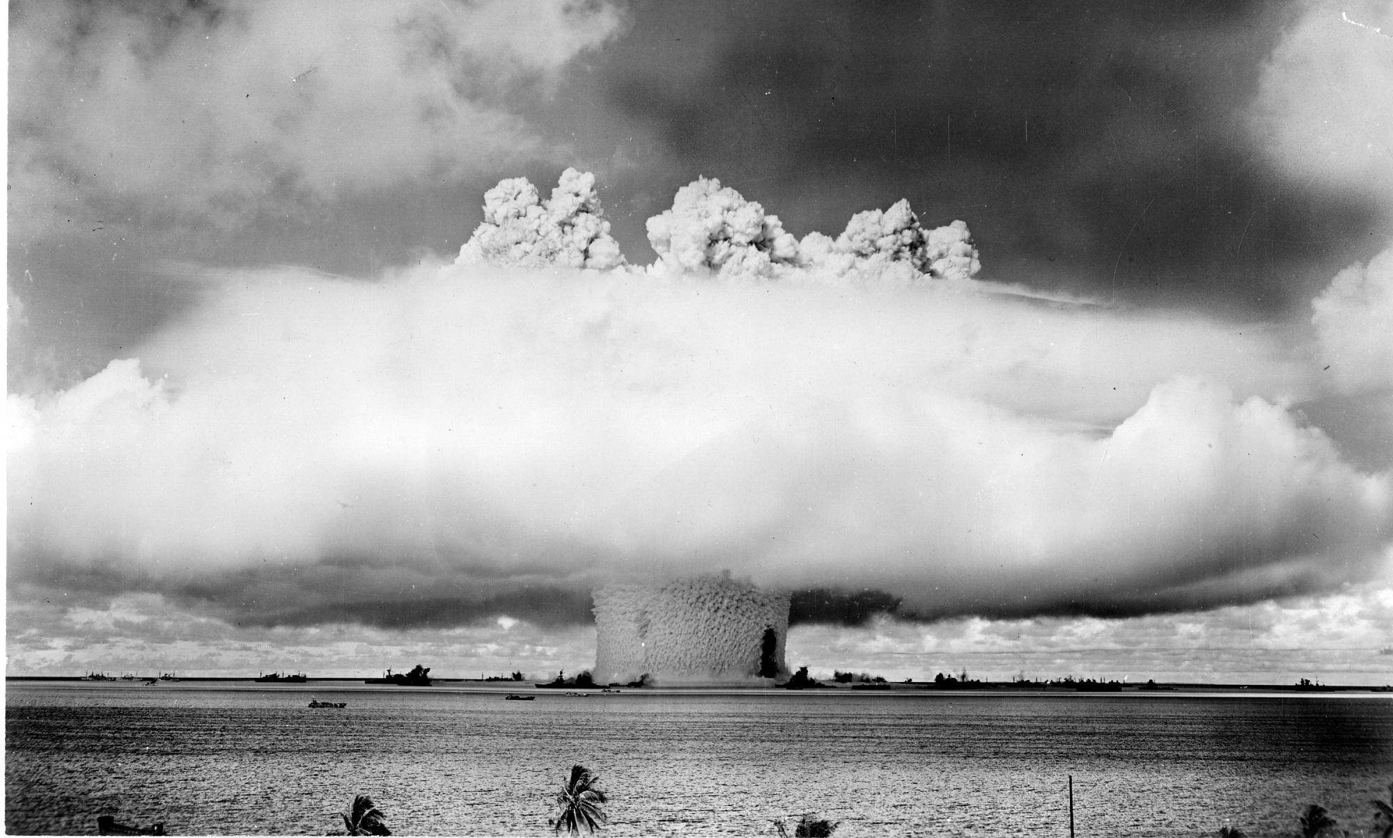 Preview of The Atomic Blast on Bikini Atoll from Sea Level