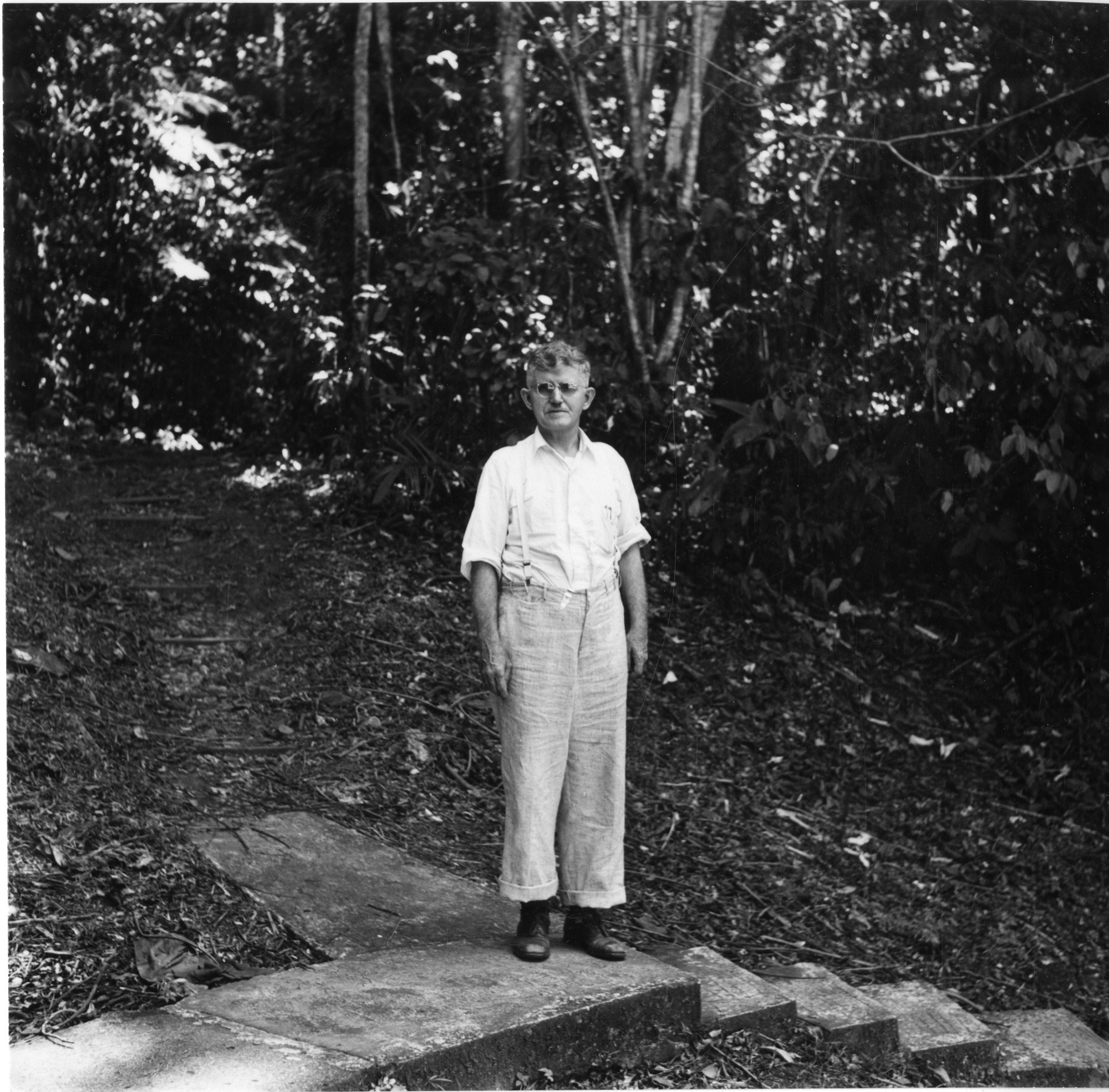 James Zetek on Barro Colorado Island, by Wetmore, Alexander 1886-, March 12, 1946, Smithsonian Archives - History Div, SIA2010-1174 or 2881.