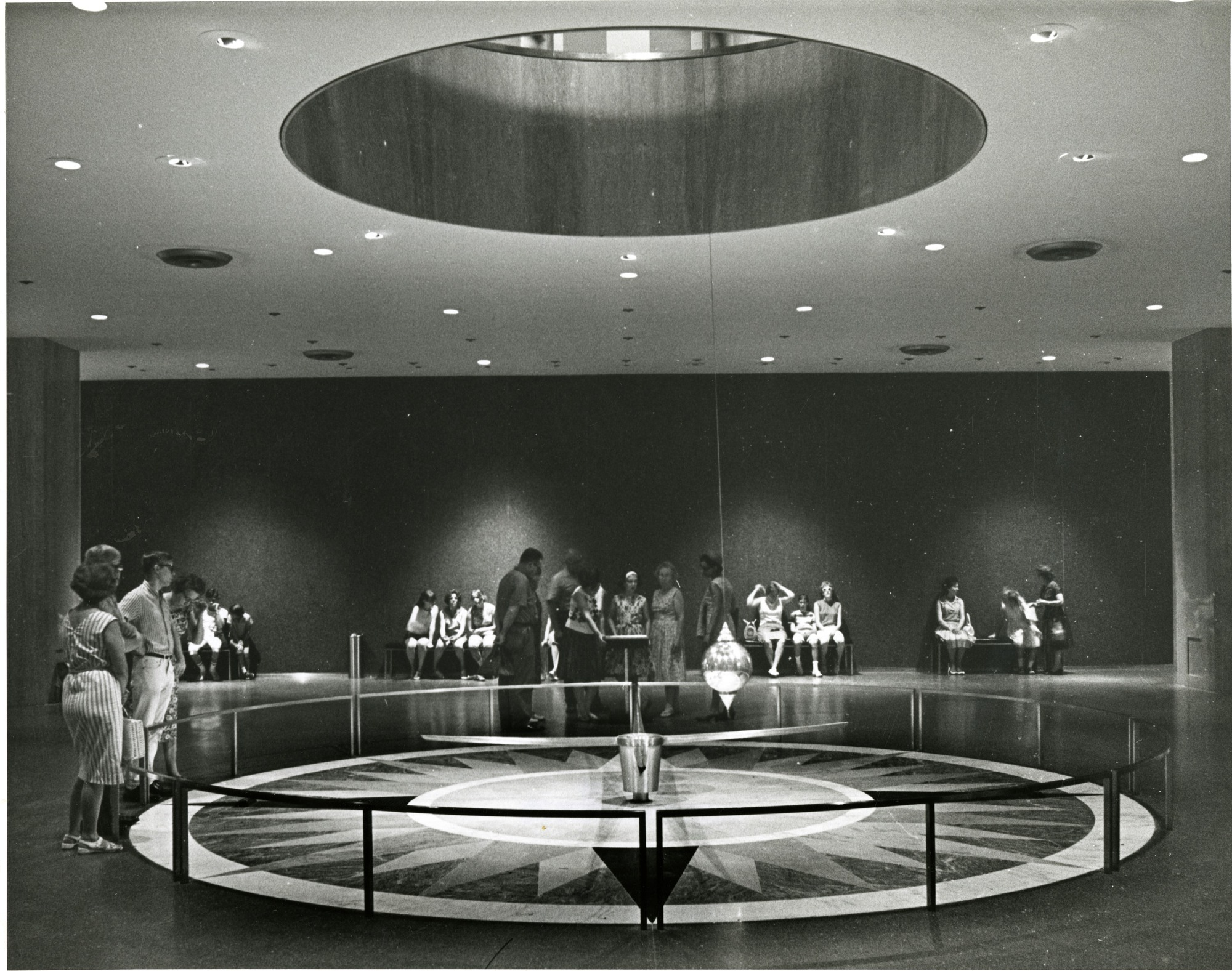 Pendulum Hall in NMHT, by Unknown, c. 1970, Smithsonian Archives - History Div, SIA2010-2908 or P64131-F or P64131-f.10.