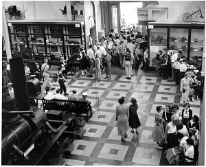 Image of Visitors to the Transportation Hall, A&I