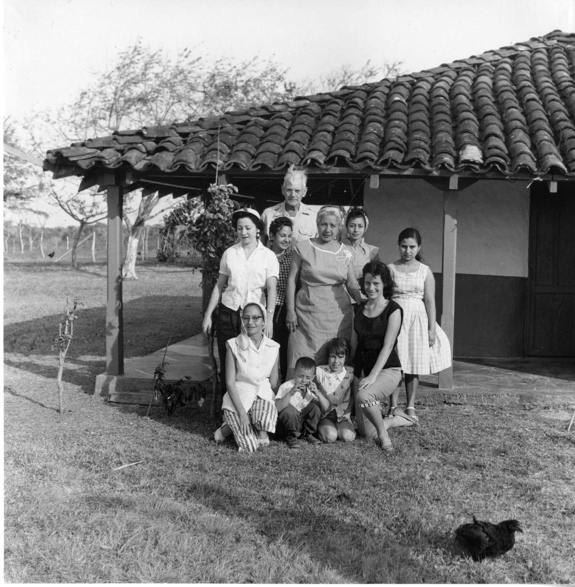 Alexander Wetmore with group near Punta Mala, March 12, 1957