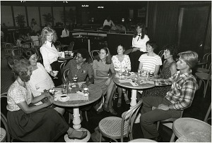 Image of Waitress Kim Dempsey in the NMAH Ice Cream Parlor